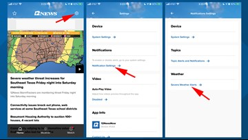 Here's how to get severe weather alerts via the 12NewsNow App