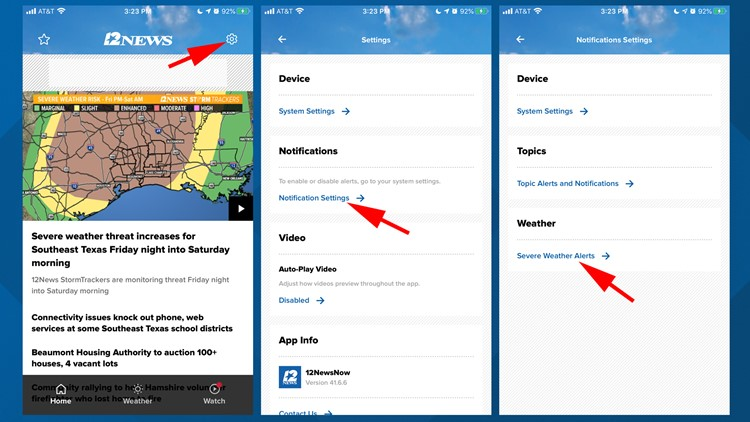 Set up 12NEwsNow App weather alerts