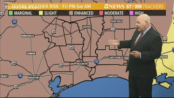 Possible showers expected today, tomorrow before potential severe weather Friday night