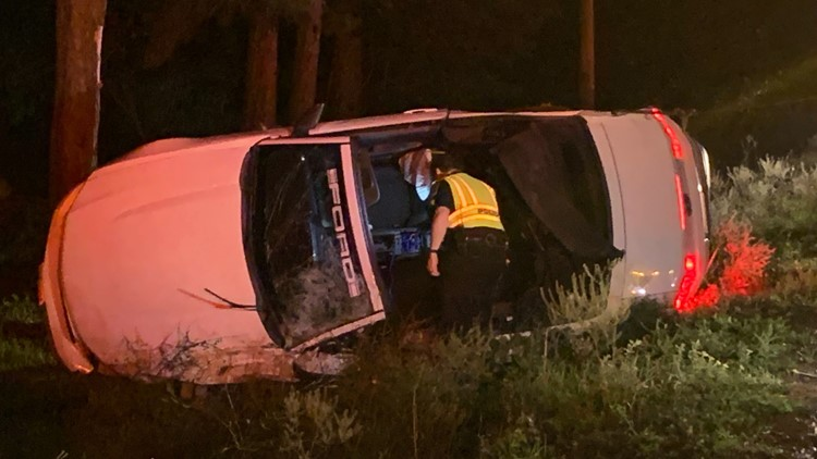 55-year-old man dies from car accident along Highway 105