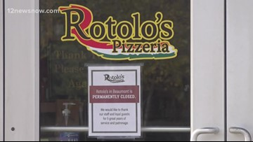 Rotolo's Pizzeria in Beaumont permanently closed