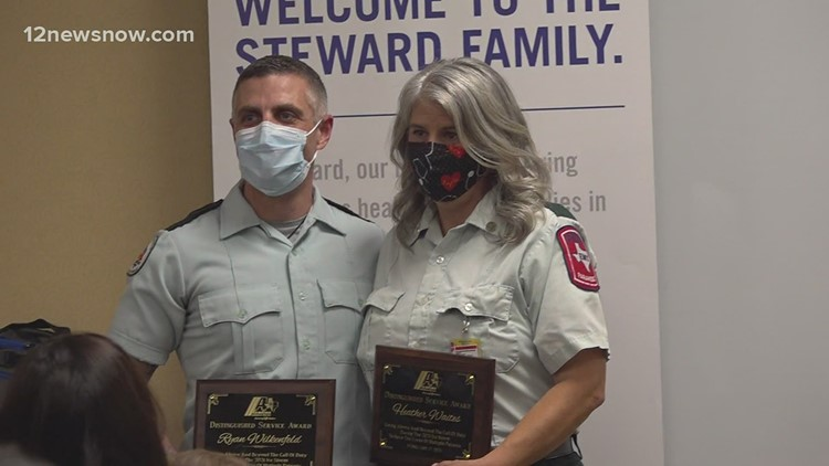 Acadian Ambulance medics honored for saving infant, five others during ice storm