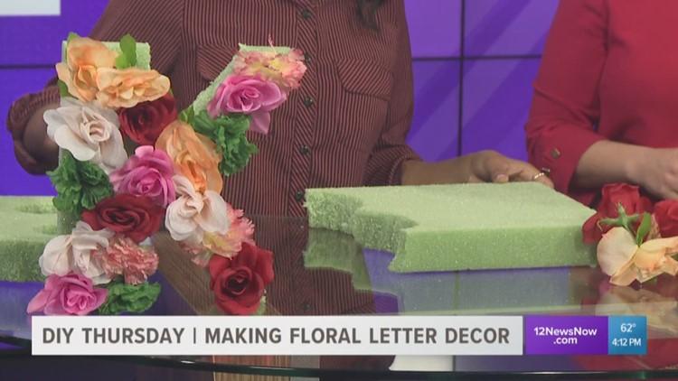 D.I.Y Thursday | Floral letter decor that will lighten your environment