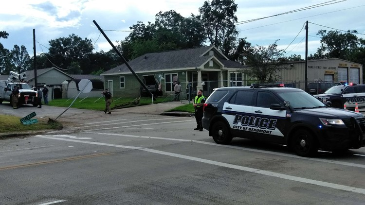 Fairway, Magnolia intersection blocked off truck goes through wall of home