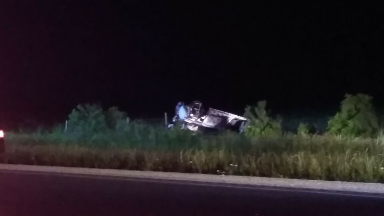 Four injured, one ejected in Saturday night crash on Highway 73