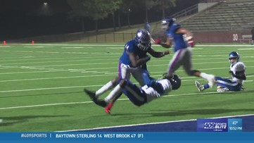 West Brook High School's Troy Yowman makes the week 11 Hit of the Week
