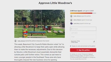 Petition started to ask Beaumont City Council to vote again on Little Woodrow's permit issue