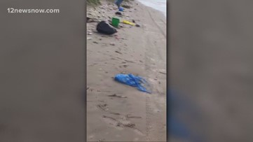 Crystal Beach littered with garbage after Memorial Day weekend parties