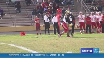 WEEK 10: Crosby High School's Vernon Hatfield Jr. makes the Ram Tough Hit of the Week