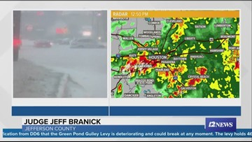 Jefferson County Judge Jeff Branick discusses drainage systems, says water is starting to recede
