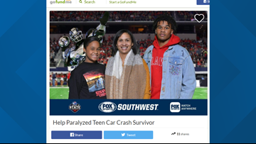GoFundMe for West Brook student paralyzed in wreck exceeds $38K