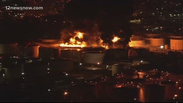 Eight tanks on fire at petrochemical storage facility in Deer Park