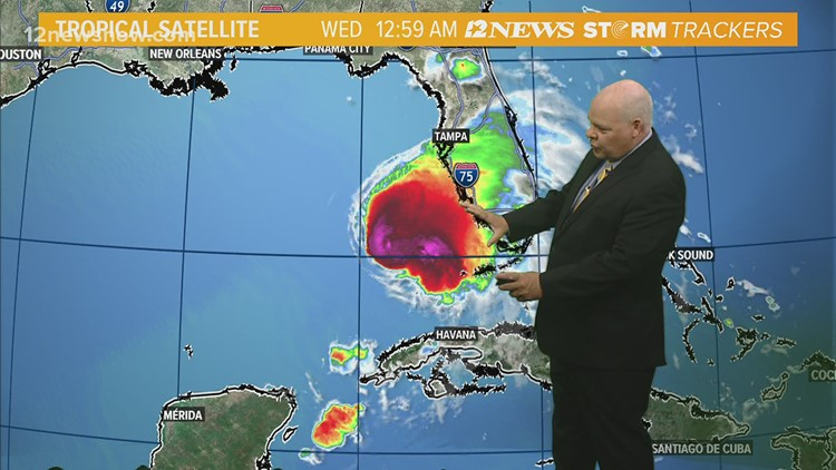Tropical Storm Eta track shifts further east Wednesday morning