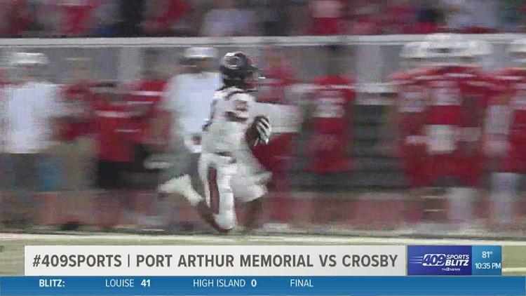 Crosby takes down Port Arthur Memorial High School 41 - 26