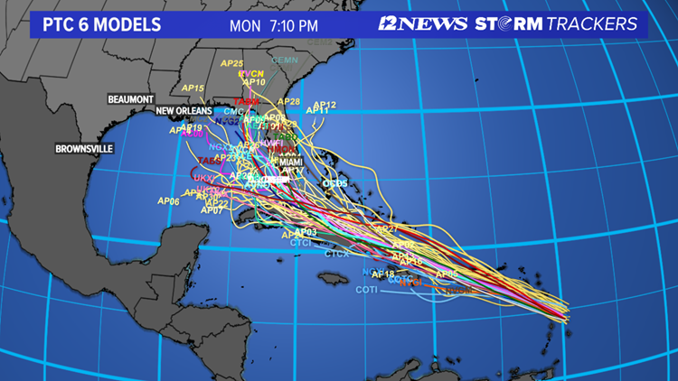 Potential Tropical Cyclone 6 forms near the Caribbean Sea