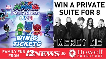 Win 6 tickets to PJ Mask, 8 suite tickets to Mercy Me