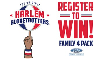 Enter to win a family 4-pack to see the Harlem Globetrotters