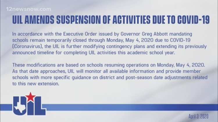 UIL holds off on cancellations