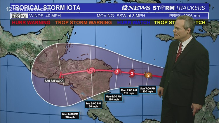 Tropical Storm Iota takes aim at Central America, already damaged by Hurricane Eta