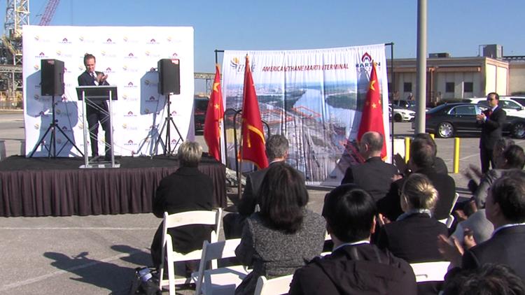 Groundbreaking for multi-billion dollar ethane export project held