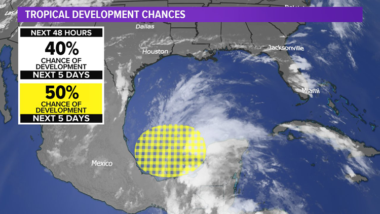National Hurricane Center increases chance of development for storm in Gulf