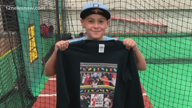 Jose Altuve signs Port Neches boy's ugly sweater