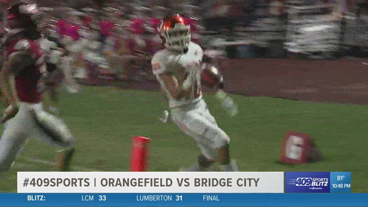 Early scores give Orangefield High School the edge over Bridge City in the Game of the Week