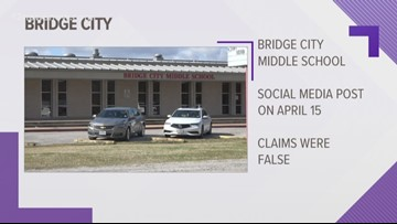 Bridge City says social media post claiming attack on student is 'completely false'