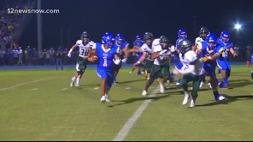 Hamshire Fannett High School beats East Chambers in The Rice Bowl 26 - 19