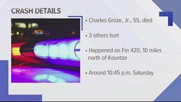 Kountze man killed in Hardin County crash Saturday