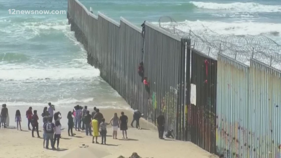 President Trump is scheduled to tour new section of border fence, while threat of border shutdown is still looming