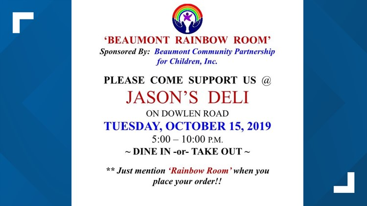 Fundraiser for the Beaumont Rainbow Room