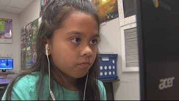 Vidor Elementary student impresses teacher with her effort in the classroom