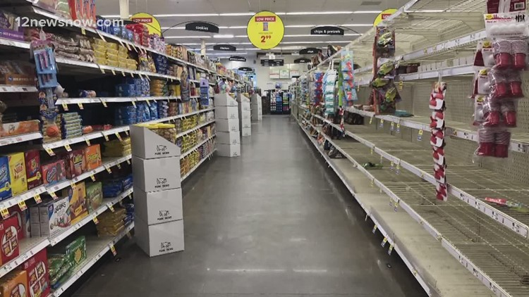 Grocery store shelves bare again, food supply limited after arctic blast
