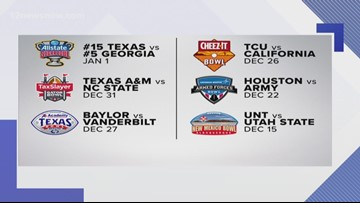 Six Texas teams get selected for a bowl game