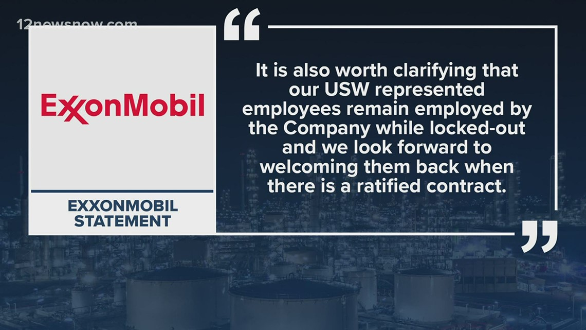 ExxonMobil lockout to continue as company makes plans to bring in contractors to help with operations