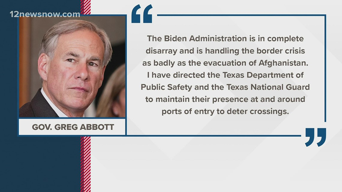 Gov. Greg Abbott orders border ports of entry shut down, but the federal government says there's no such plan