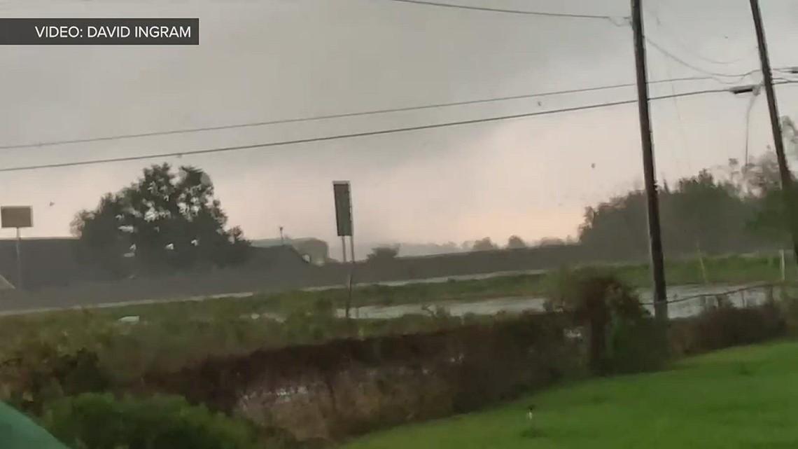 Tornado passes over Interstate 10 in Orange Wednesday morning
