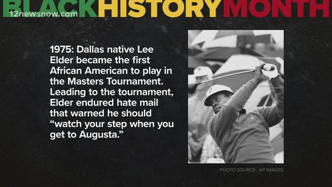 Black History Month: Dallas native Lee Elder became first African American to play in Masters Tournament