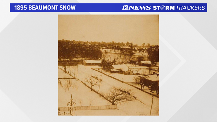 A View from Beaumont, TX during the Great Gulf Coast Snowstorm of 1895