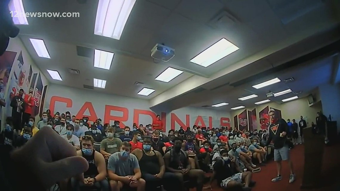 Lamar football player gets a special surprise