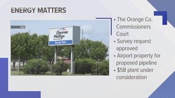Orange County approves Chevron Phillips' request to survey land