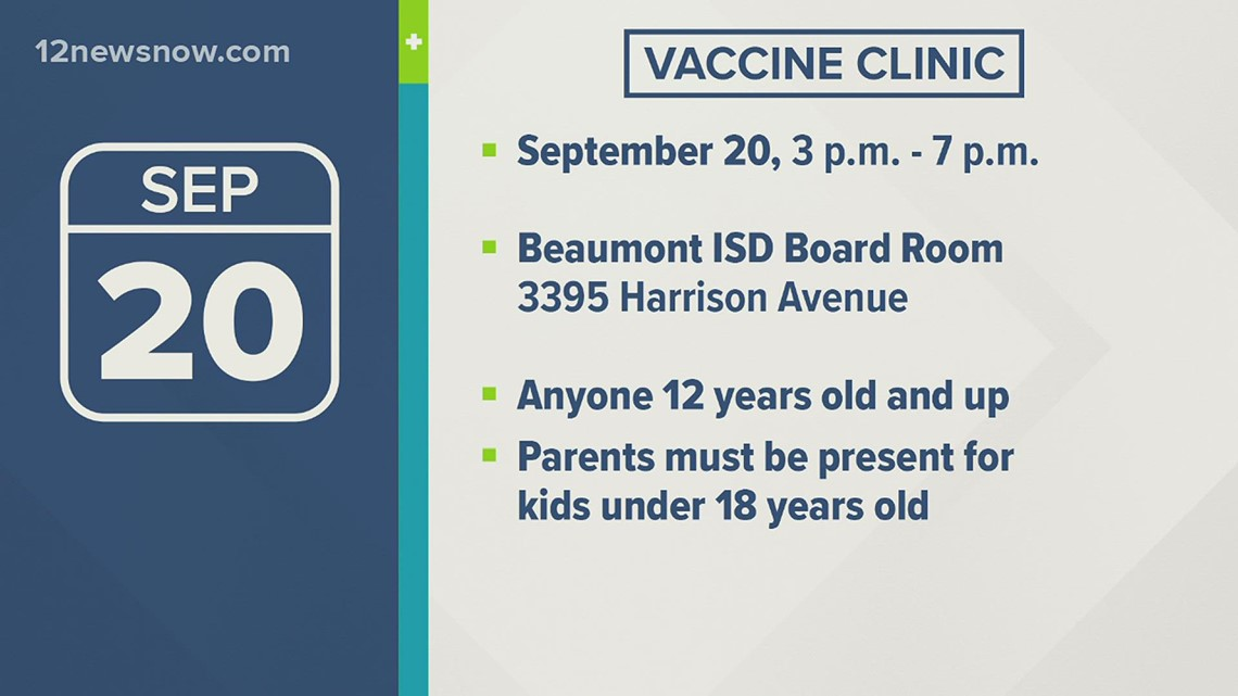 Beaumont ISD hosting vaccine clinic for staff, students and community