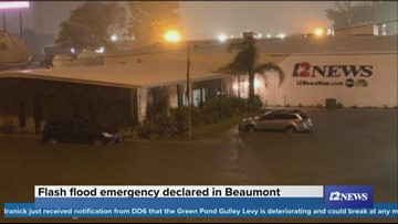 KBMT crew gives update from Education First Federal Credit Union after evacuating studios: School closures, detours, rainfall totals