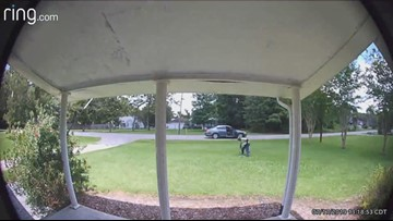 WATCH: Doorbell video appears to show concrete angel being stolen out of yard in Beaumont