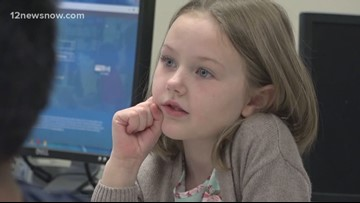 East Chambers 1st grader inspires teacher with her willingness to lend a hand