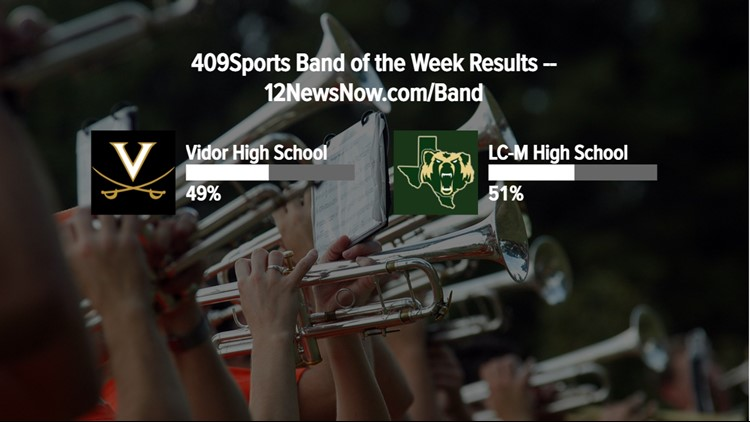 Little Cypress-Mauriceville High School wins the week 8 Band of the Week