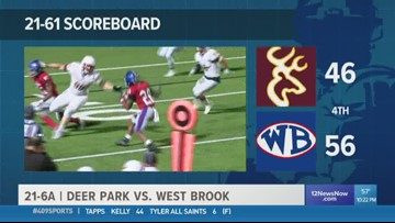 WEEK 10: West Brook High School gets the home-field win against Deer Park 56 - 46