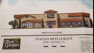 Preliminary plans approved for Olive Garden location in Port Arthur