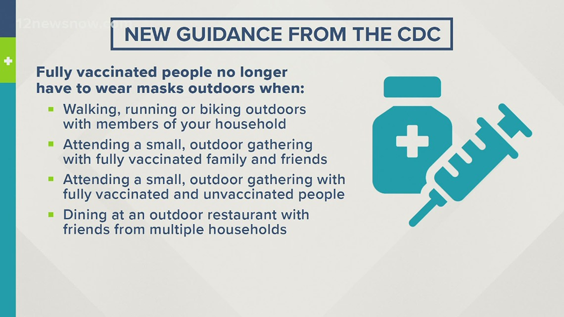 CDC: Fully vaccinated people no longer have to wear masks outdoors